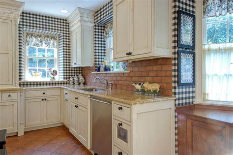 black  white country kitchen  hgtv