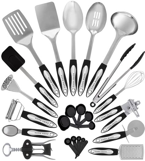 utensils kitchen cooking stainless utensil steel tool gadgets spatula cookware gift nonstick pot amazon homehero