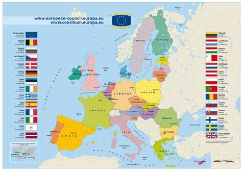 large detailed european union map  european union