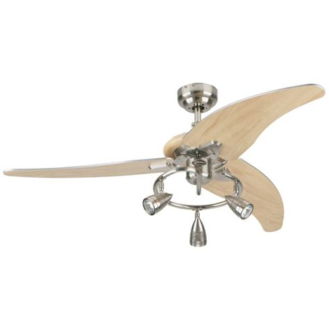 westinghouse ceiling fan swag light kit westinghouse 7850500 brushed nickel elite 48 quot 3 blade
