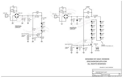 Circuit Modified Led Night Light