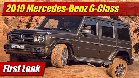 First Look 2019 Mercedes Gclass Testdriventv