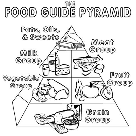 food pyramid coloring pages   clip art  clip art  clipart library