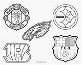 Coloring Football Pages Logos Team Printable Cool2bkids sketch template
