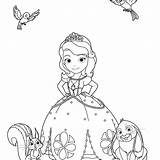 Sophia Drawing Coloring Pages Sofia Christmas Getdrawings Drawings sketch template