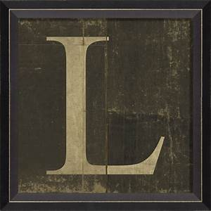 alphabet letter l framed wall art by spicher and company With framed letters for wall