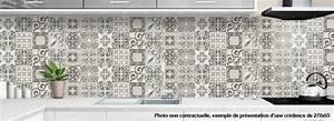 Carreaux De Ciment Autocollant : cr dence de cuisine d corative carreaux de ciment usure ~ Premium-room.com Idées de Décoration