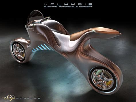 Futuristic Valkyrie Electric Motorcycle Concept Was
