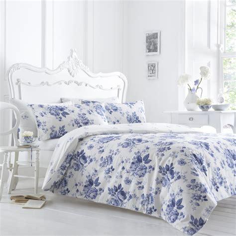 Blue Duvet by Vantona Blue Floral Duvet Cover Vantona From