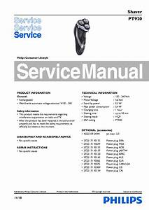 Philips Pt920 Shaver Service Manual Download  Schematics