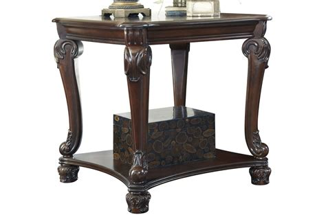 norcastle square end table in brown by ashley