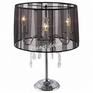 Lampe De Chevet Noir : lampe de chevet noire chandelier baroque noir achat vente lampe a poser pas cher couleur et ~ Teatrodelosmanantiales.com Idées de Décoration