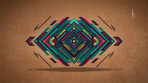 wall graphic design abstract digital vector triangle colorful graphic Abstract