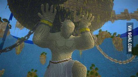 amazing minecraft statue gag