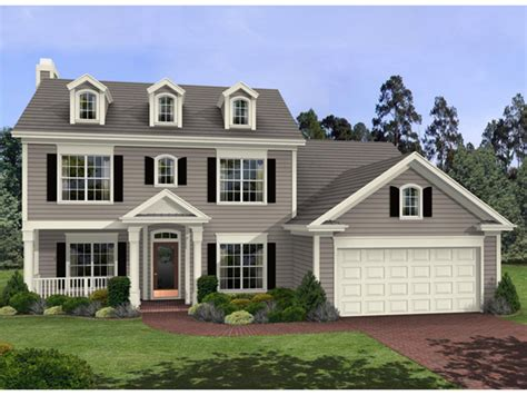 Colonial Home : Harrison Glen Colonial Home Plan 013d-0045