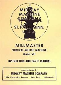 Shopsmith Speed Chart Pdf Midway Millmaster Model 501 Vertical Milling Machine