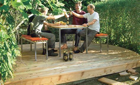 Holzterrasse Bauen Selbstde