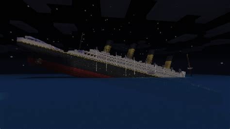 Minecraft Titanic Sinking Map R M S Titanic Sinking Minecraft Project