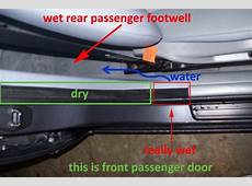 Bmw x3 water leak trunk