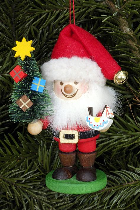 tree ornament santa claus 10 5cm 4in by christian ulbricht
