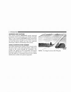 2004 Chrysler Pacifica Owners Manual