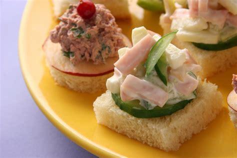 mini canape ideas finger sandwich recipes cdkitchen