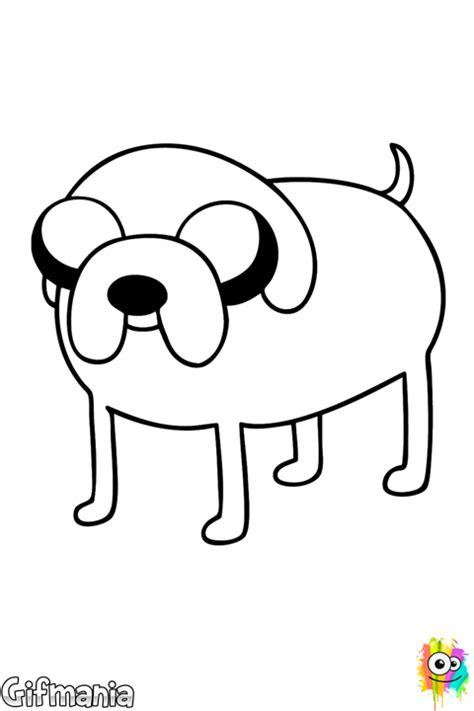 jake  dog coloring page
