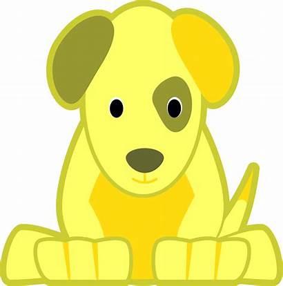 Yellow Dog Cartoon Clipart Clip Transparent Background