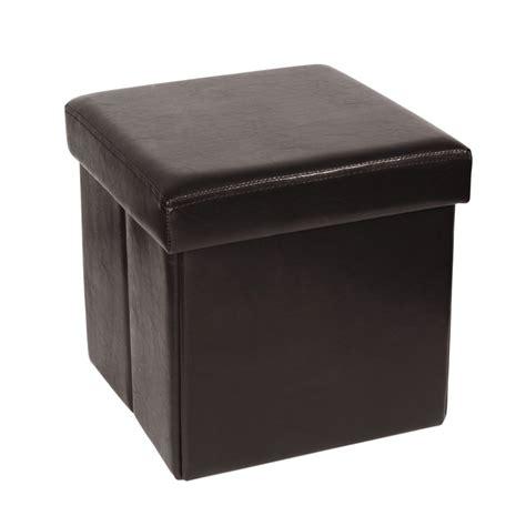 maison du monde coffre pouf coffre pliable en polyur 233 thane marron maisons du monde