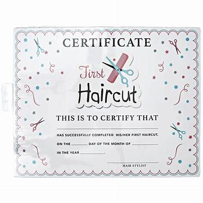 Haircut Certificate Salon Certificates Care Hair Template