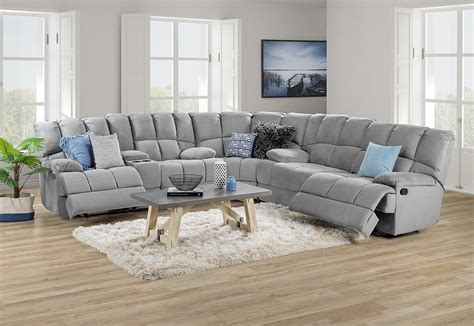 Corner Lounge With Recliner by Spartacus Fabric Corner Lounge Suite Amart Furniture