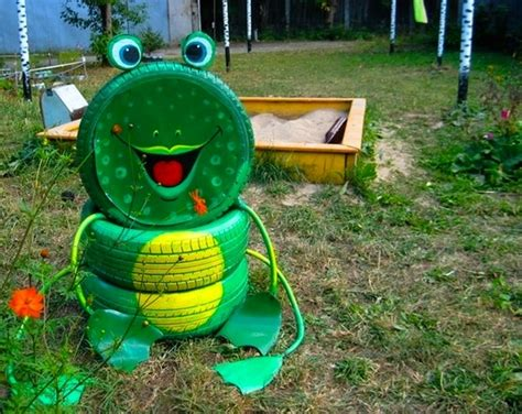 Used Garden Decoration by Tire Recycling Ideas 23 Animal Shaped Garden Decorations