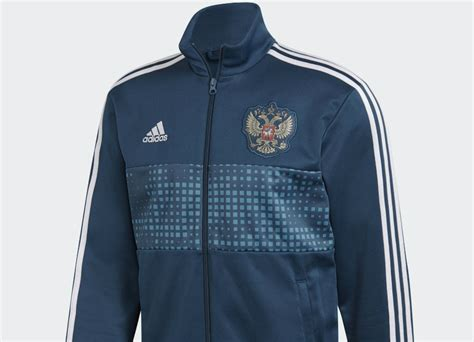 adidas russia  stripes track jacket blue night white