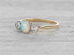vintage opal engagement rings wedding and bridal inspiration With vintage opal wedding rings