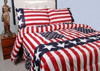detail product seprei dan bedcover bendera amerika toko