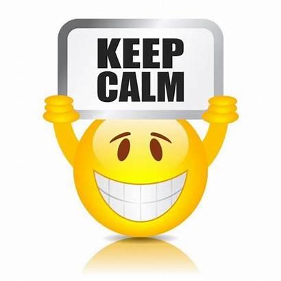Calm Clipart Down Keep Calme Kalm Emoticon