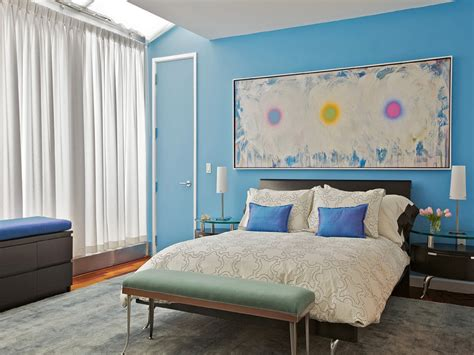 Show Bedrooms Designs, Blue Bedroom Accent Wall Paint