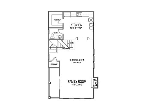 Narrow Galley Kitchen Floor Plans by Narrow Lot House Plans Narrow Home Plan 058h