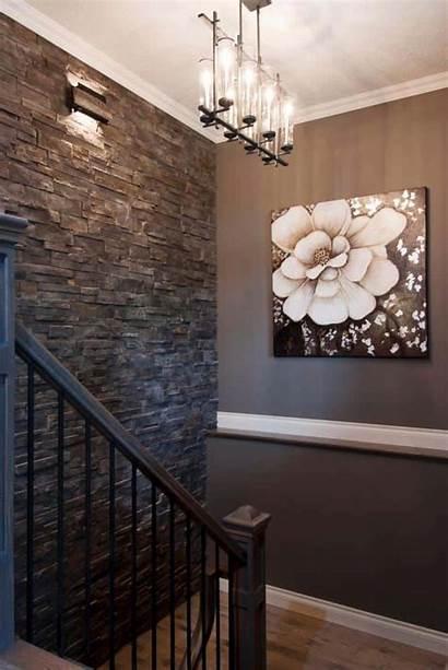 Accent Stone Walls Decor Wall Hallway Focal
