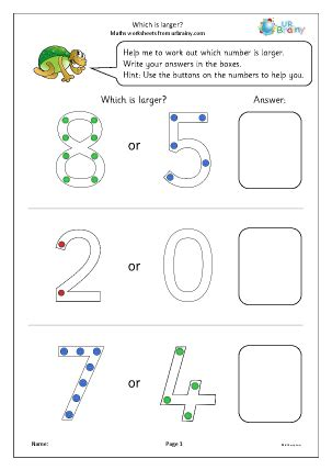 larger ordering numbers maths worksheets