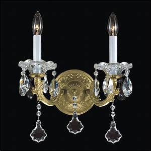 Old world wall sconces light crystal sconce