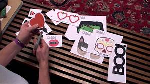 How to make DIY Printable Photo Booth Props - YouTube