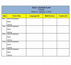 Free 10  Sample Preschool Lesson Plan Templates In Google