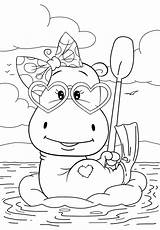 Coloring Pages Hippo Cuties Resting Animal Bojanke Preschool Bontontv Printables Disney Bonton Tv Books Colouring Printable Sheets Slatkice раскраски категории sketch template