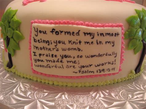 Sayings For Wedding Shower Cakes by Baby Shower Cakes Religious Baby Shower Cake Sayings