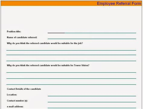 employee referral form sample