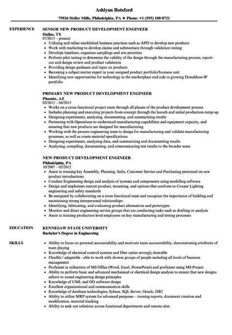 New Product Development Engineer Resume Samples   Velvet Jobs