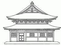 Maison Japonaise Dessin : dessin de temple japonais chine en 2019 temple japonais dessin japonais et coloriage japonais ~ Melissatoandfro.com Idées de Décoration