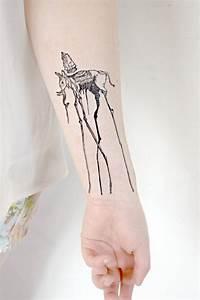 Temporary Tattoo - Salvador Dali, artist, elephant, spring ...