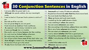 30 Conjunction Sentences In English